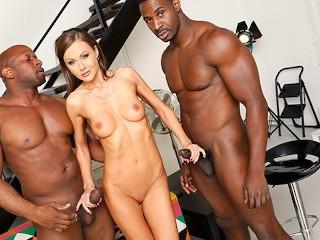 Anal Slut Tina Kay Tries Interracial DP With Big Black Cock