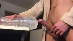 Guy Fucking Fleshlight Ice Vagina - 13 Shots Of Cum