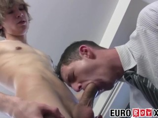 Horny coworkers suck dick and anally...