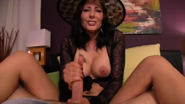 Sexy witch - Sexy witch gives tricks and treats