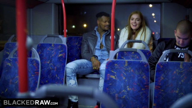Red raw pussy - Blackedraw two beauties fuck giant bbc on bus