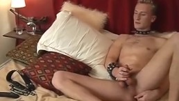 Skinny euro twink is solo masturbating for an audition