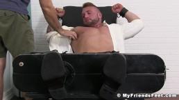 Beefy businessman Gavin severely tickled in bondage