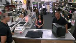 """XXX PAWN - Feisty Cuban Chick """"Estefania"""" Gets Her TV Broken"""