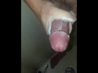 Daddy Strokes His Big Fat Cock In The Shower Part 2