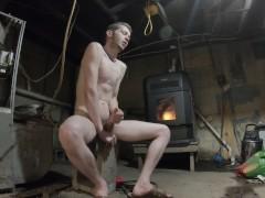 Cum By The Fire Stove [Flint-Wolf.com]