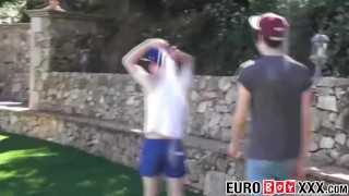 Outdoor anal fucking with skinny and young homosexuals Erotic exotic