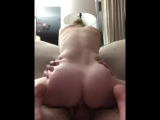 Girlfriend cums all over my big dick
