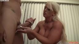 Muscular Porn Star Alura TNT Jenson Handjob Cumshot