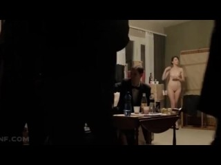 ENF- Woman is the only one Naked at a Party- Humilated
