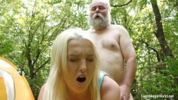 Old-n-Young.com - Lovita Fate - Mushroom hunter picks up blonde pussy