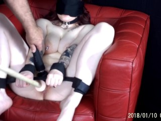 19 yr old Redhead Blindfolded and Made to Orgasm Over and Over