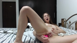 Izzy plays with her pussy