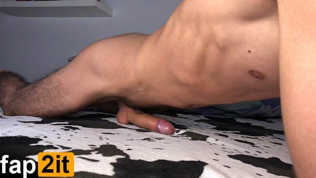 Guy masturbation Guy moaning while humping bed - cum handsfree - 4k