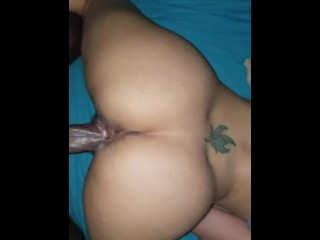 Creamy bbc pushed in creampie...