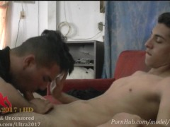Sucking dick of my cousin when my parents are out.