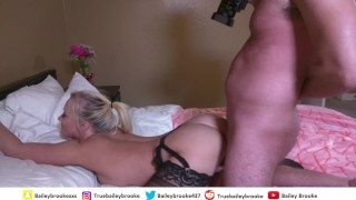 Horny Couple Makes A Sex Tape - Huge Creampie In Tight Teen Pussy