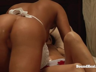 Education of Adela: Busty Lesbian Slave Gives Perfect Massage To Mistress