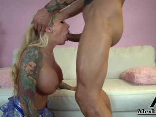 Lolly Ink Shows Her New Chearleding Outfit & Ends Up Fucking A Huge Cock!