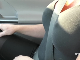 Picked Up blonde hooker for public parking lot blowjob & she swallowed cum