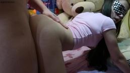 Asian Schoolgirl Gets Hard Doggystale and Cum On Her Back - MaryVincXXX