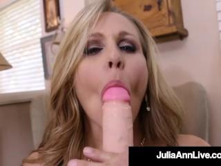 Busty Cougar Julia Ann Dildo Fucks Her Wet Pussy!