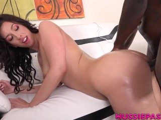 Jackie Ohh Gets A Big Black Cock Interracial Fucking Hussiepass