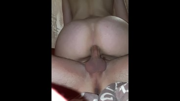 Hard, deep and painful anal sex with a student, dick slaps on the ass.