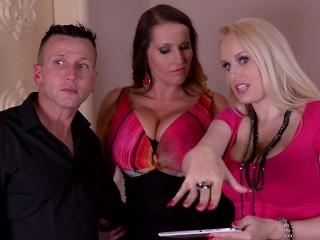 Image Chicas curvas Laura Orsolya & Angel wicky orgasmo en escena hardcore trío