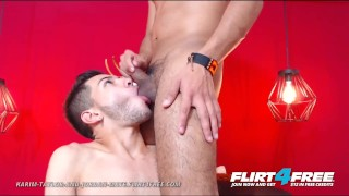 Karim Taylor and Jordan Mate on Flirt4Free - Latino Couple Tease Each Other