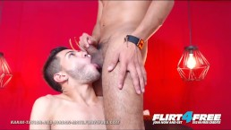 Karim Taylor and Jordan Mate on Flirt4Free - Latino Couple Tease Each Other
