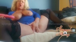 Hot MILF GILF masturbating her Mature tight wet pussy untill CUM and Squirt