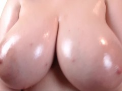 Oiled Boobs Tease