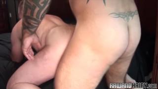 Duo bear assfucking bareback chubby tattoo hairyandraw