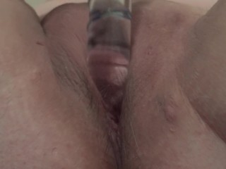Milf toys her wet pussy...