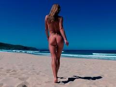 TRAVEL NUDE - Naked girl on a public beach Doniños Spain / Sasha Bikeyeva