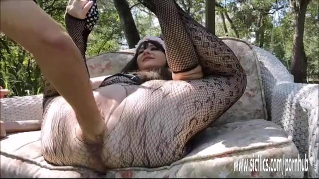 Huge double fisting and dildo fucked BBW slut 13