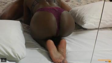 Gorgeous Ebony Teen has a Perfect Ass and Creamy Pussy - MrandMrsBond
