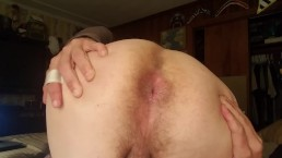 Close up butthole spreading and flexing