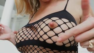 Pinching and twisting JenniLane's outSTANDING Long erect Nipples