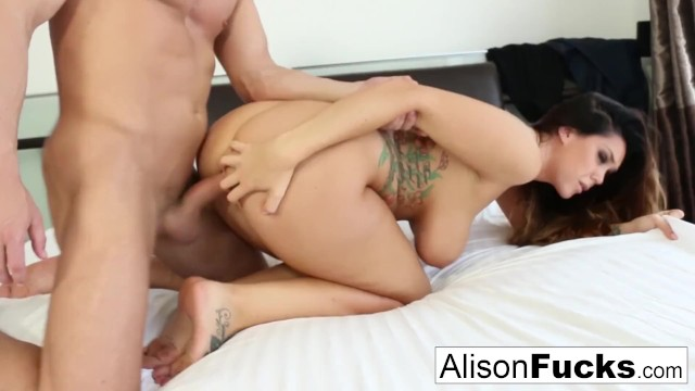 Curvy Alison takes some good dick in her bedroom