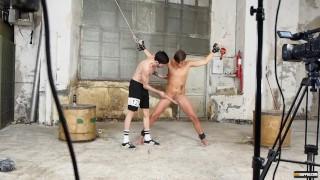 Twink waxed cock taylor bondage sean enthusiast stroking heet kink