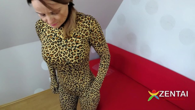 Patterns for adult costumes Lycra full catsuit in cheetah pattern