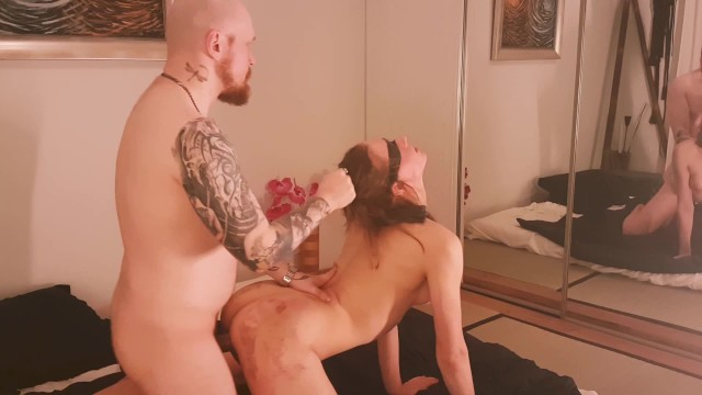 Blindfolded submissive girl getting fucked 17