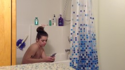 REAL ROOMmate on hidden spy cam getting naked in the bathroom!