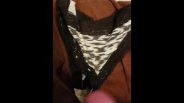Jerking off on roommates panties because she wont fuck!