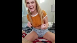 18 Born in 2000 Natalie Knight Punching Testicles in Ballbusting POV