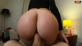 Screen Capture of Video Titled: MUST WATCH!! PAWG REVERSE COWGIRL RIDING