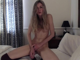 Tiny Blonde Teen Cums For You