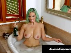 Long Legged Amazon Jelena Jensen In Green Hair & Lingerie!